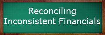 green-blackboard-reconciling inconsistent financials